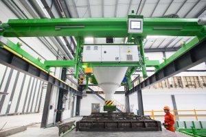 Gelžbetonio konstrukcijų gamybos įranga